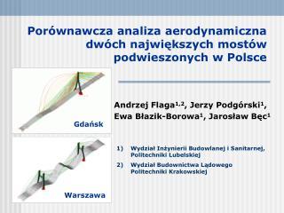 Por wnawcza analiza aerodynamiczna  dw ch najwiekszych most w podwieszonych w Polsce