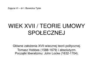 WIEK XVII