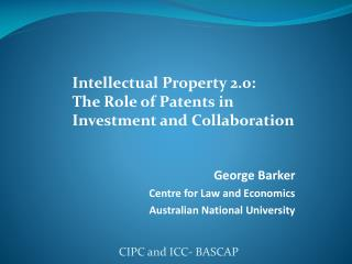 George Barker Centre for Law and Economics  Australian National University
