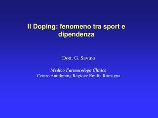 Il Doping: fenomeno tra sport e dipendenza