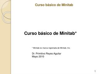 Curso b sico de Minitab