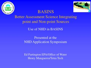 BASINS Better Assessment Science Integrating  point and Non-point Sources