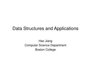 Data Structures and Applications