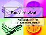 F nomenologi