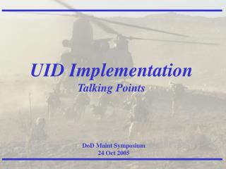 UID is not about Marking Parts.