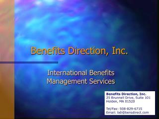 Benefits Direction, Inc.