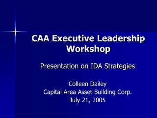CAA Executive Leadership Workshop