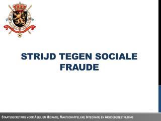 Strijd tegen sociale fraude