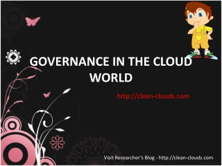 35.GOVERNANCE IN THE CLOUD WORLD