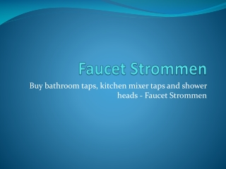 Faucet Strommen