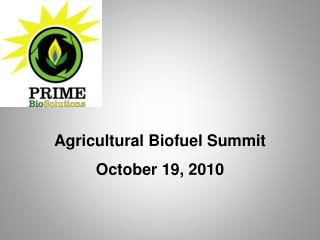 Agricultural Biofuel Summit  October 19, 2010