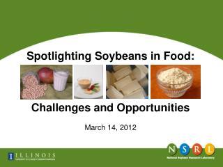 Spotlighting Soybeans in Food: