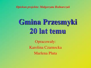 Gmina Przesmyki  20 lat temu