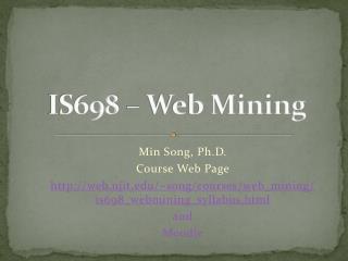 IS698   Web Mining