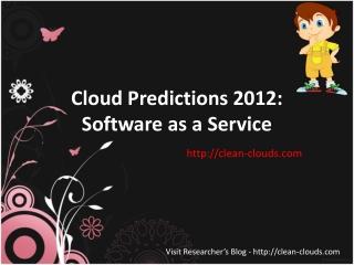 39.Cloud Predictions 2012 Software as a Service