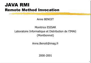 JAVA RMI Remote Method Invocation