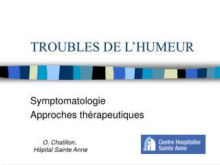 TROUBLES DE L HUMEUR