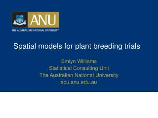 Spatial models for plant breeding trials