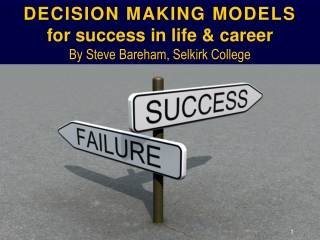 Decision Making Psychology & Decision Making Models