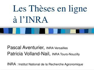 Les Th ses en ligne   l INRA