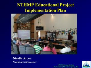 NTHMP Educational Project Implementation Plan