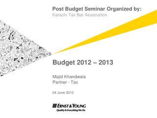 Budget 2012   2013