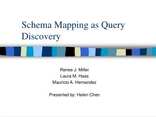 Schema Mapping as Query Discovery