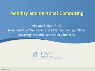 Mobility and Personal Computing