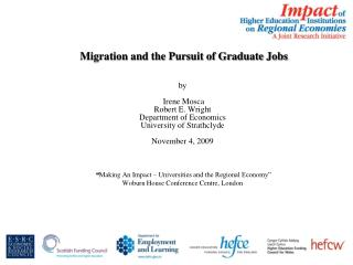 Migration and the Pursuit of Graduate Jobs    by   Irene Mosca Robert E. Wright Department of Economics University of St