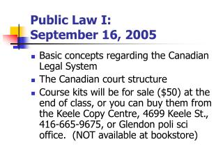 Public Law I: September 16, 2005