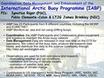 Coordination, Data Management, and Enhancement of the International Arctic Buoy Programme IABP PIs:  Ignatius Rigor PSC,