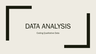 Analysing Qualitative Data