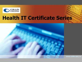 Health IT Certificate Series