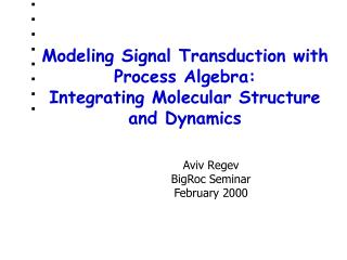Modeling Signal Transduction with Process Algebra: