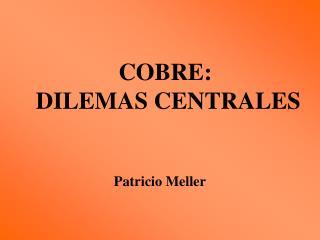 COBRE:  DILEMAS CENTRALES