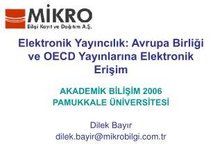 Elektronik Yayincilik: Avrupa Birligi ve OECD Yayinlarina Elektronik Erisim