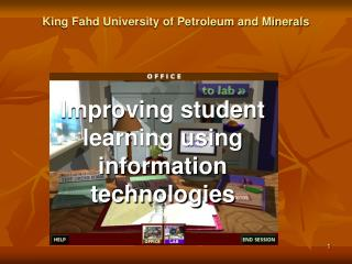Improving student learning using information technologies