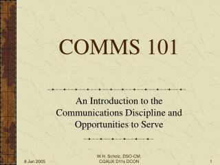 COMMS 101