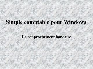 Simple comptable pour Windows
