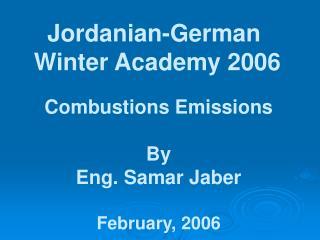 Jordanian-German  Winter Academy 2006