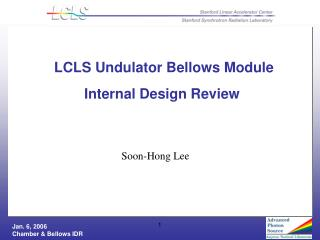 LCLS Undulator Bellows Module