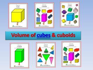 Volume of cubes  cuboids