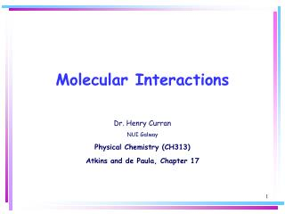 Molecular Interactions
