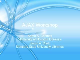 AJAX Workshop
