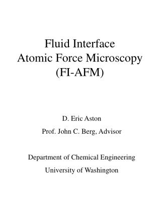 Fluid Interface  Atomic Force Microscopy FI-AFM