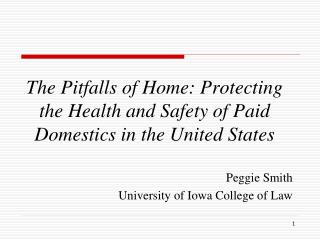 The Pitfalls of Home: Protecting the Health and Safety of Paid Domestics in the United States