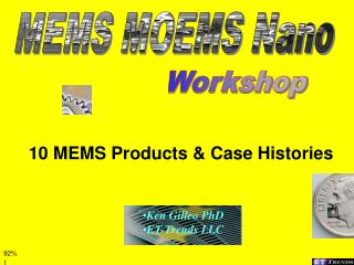 10 MEMS Products  Case Histories