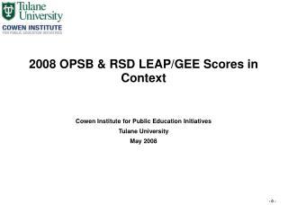 2008 OPSB  RSD LEAP