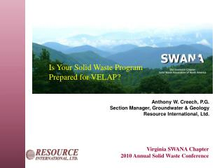 Virginia SWANA Chapter 2010 Annual Solid Waste Conference