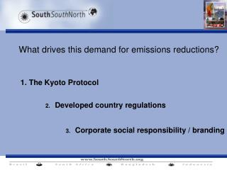 What drives this demand for emissions reductions